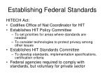establishing federal standards