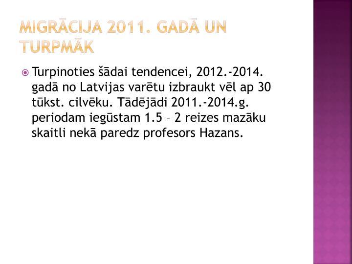 Migrācija 2011. gadā un turpmāk