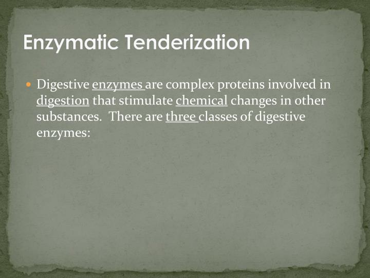 Enzymatic Tenderization