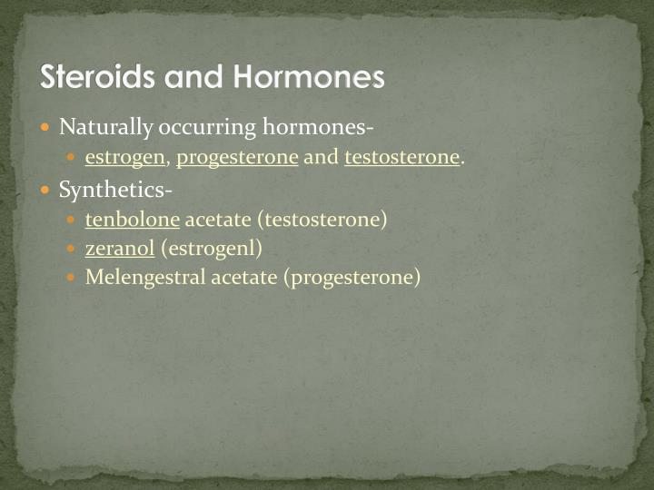 Steroids and hormones1