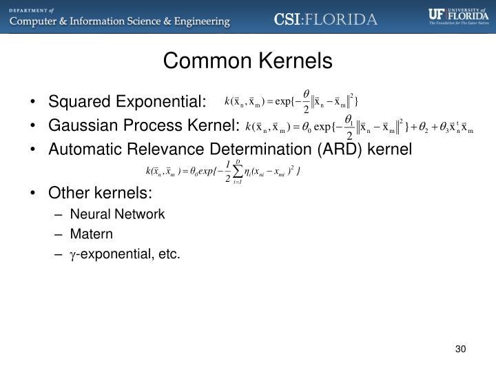 Common Kernels