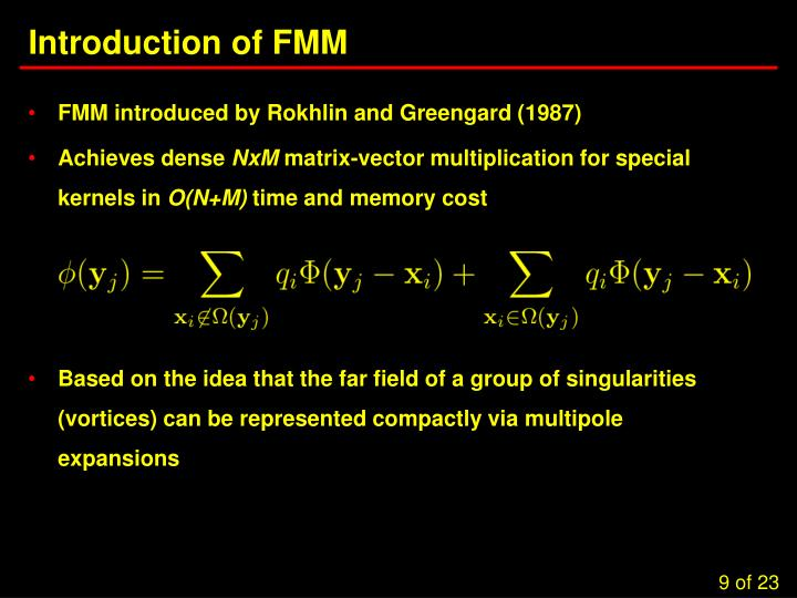Introduction of FMM