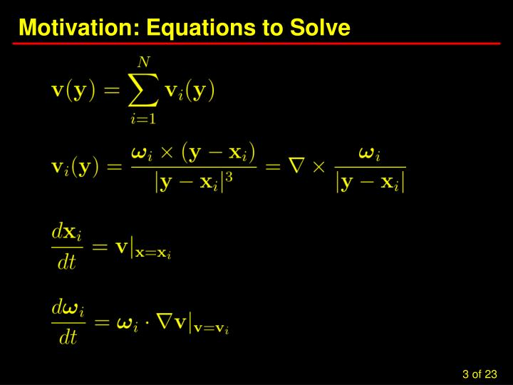 Motivation equations to solve