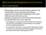 biochemical adaptation to extreme environments