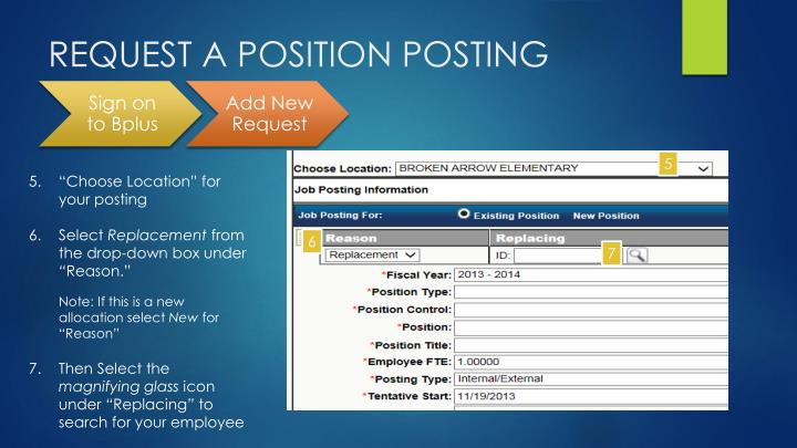 REQUEST A POSITION POSTING