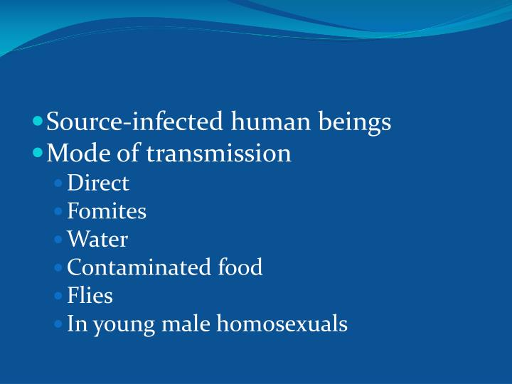 Source-infected human beings