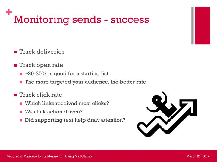 Monitoring sends - success