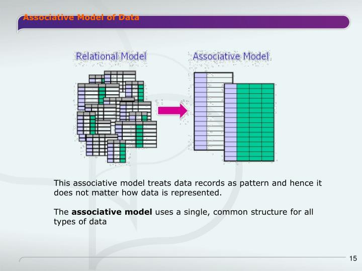 Associative Model of Data