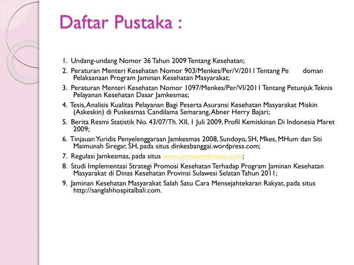 Daftar Pustaka :