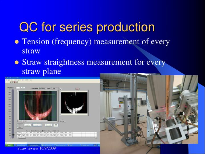 QC for series production