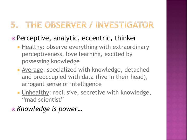 The Observer / Investigator