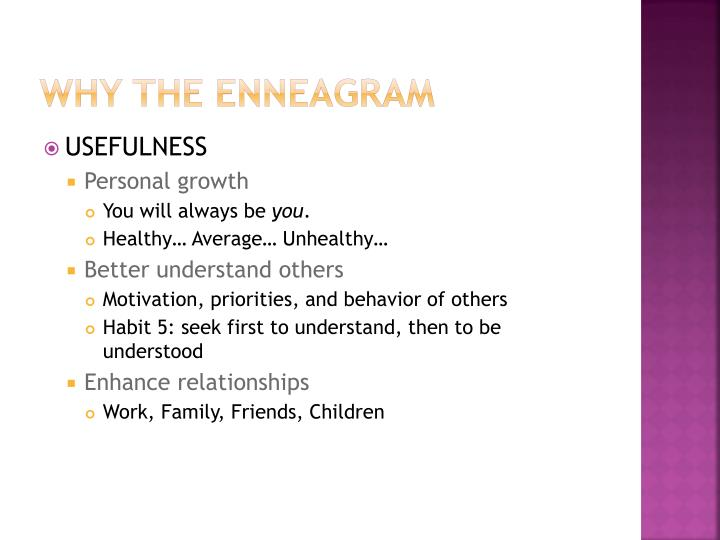 Why the Enneagram
