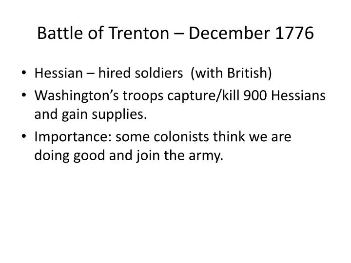 Battle of Trenton – December 1776