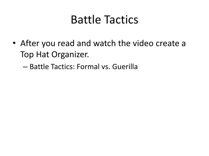 Battle tactics