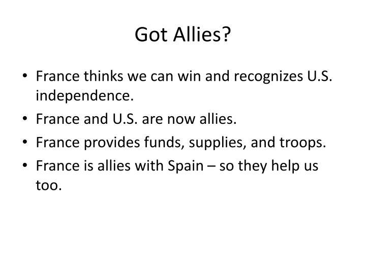 Got Allies?
