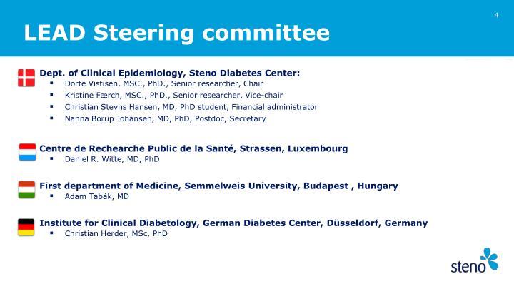 LEAD Steering committee