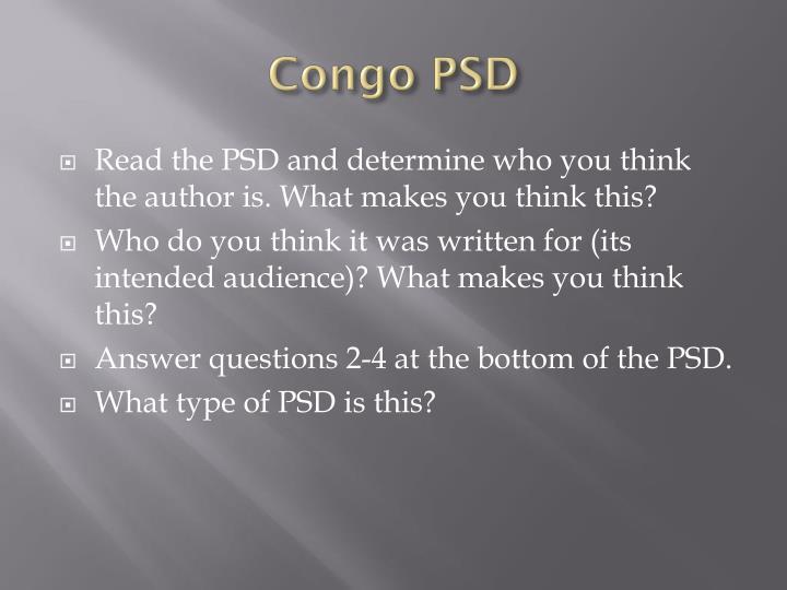 Congo PSD