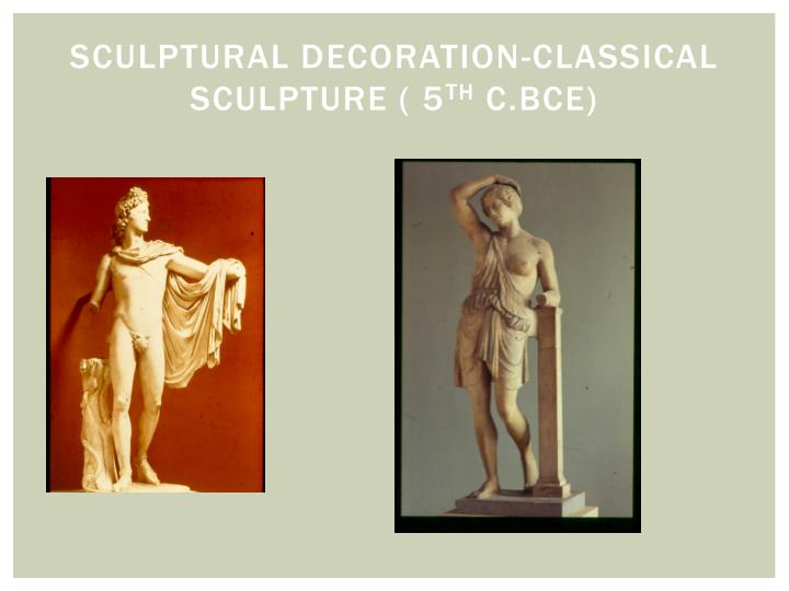 Sculptural Decoration-Classical
