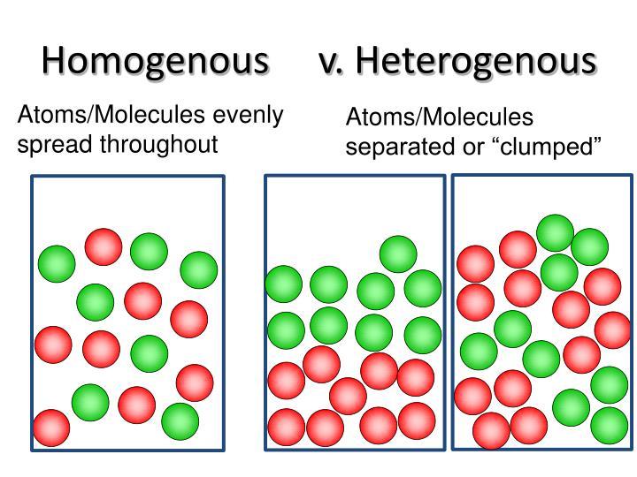 Homogenous     v.