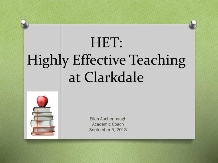 het highly effective teaching at clarkdale