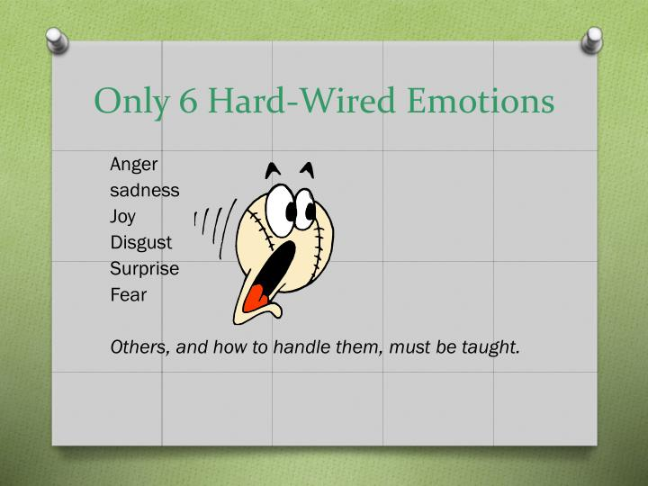 Only 6 Hard-Wired Emotions
