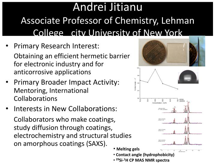 Andrei jitianu associate professor of chemistry lehman college city university of new york