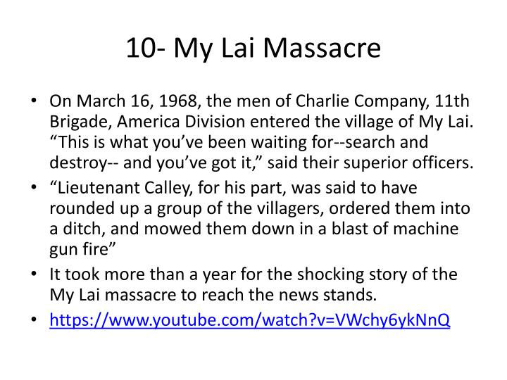 10- My Lai Massacre