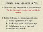 check point answer in nb