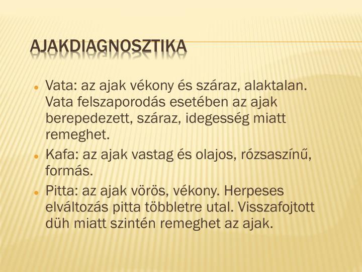 Ajakdiagnosztika