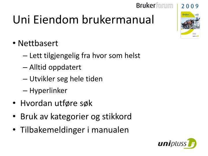 Uni Eiendom brukermanual