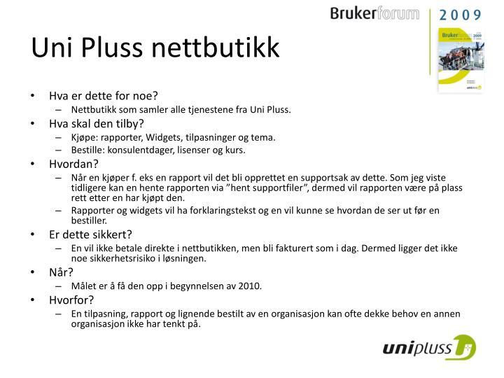 Uni Pluss nettbutikk