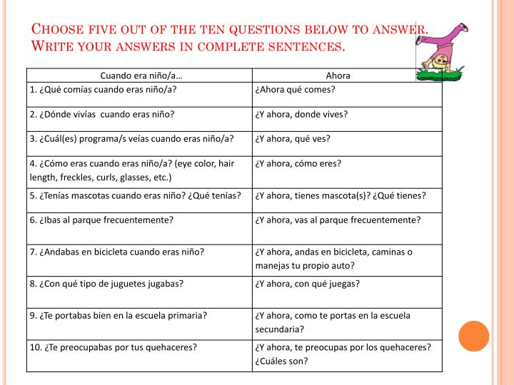 Choose five out of the ten questions