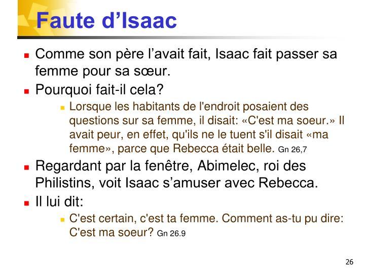 Faute d'Isaac