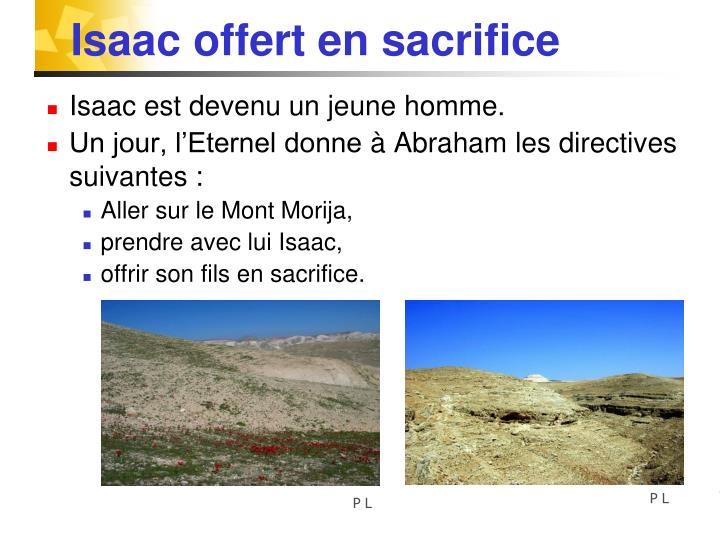 Isaac offert en sacrifice
