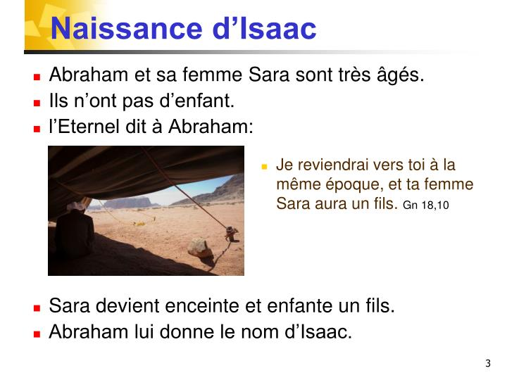 Naissance d'Isaac