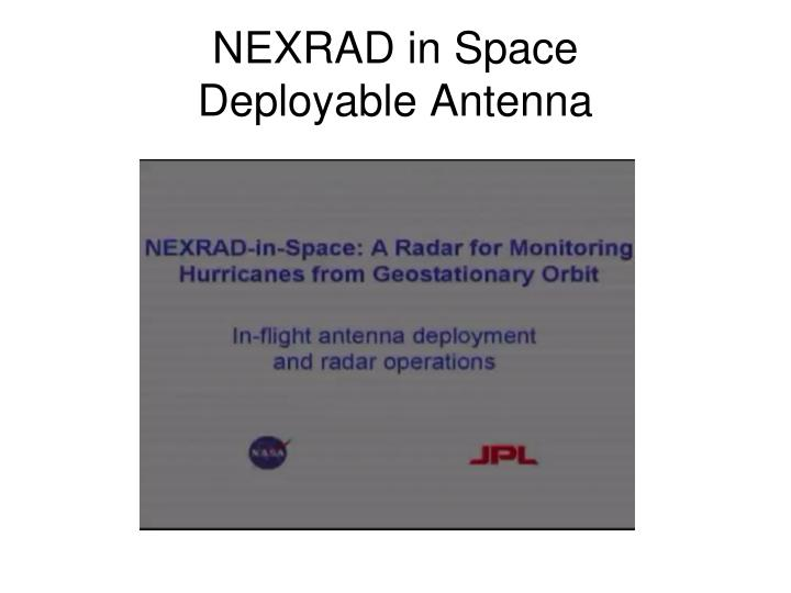NEXRAD in Space