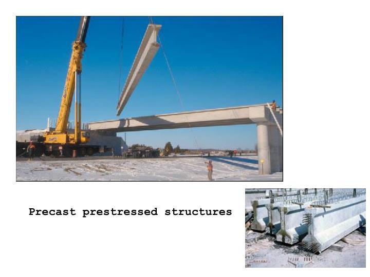 Precast prestressed structures