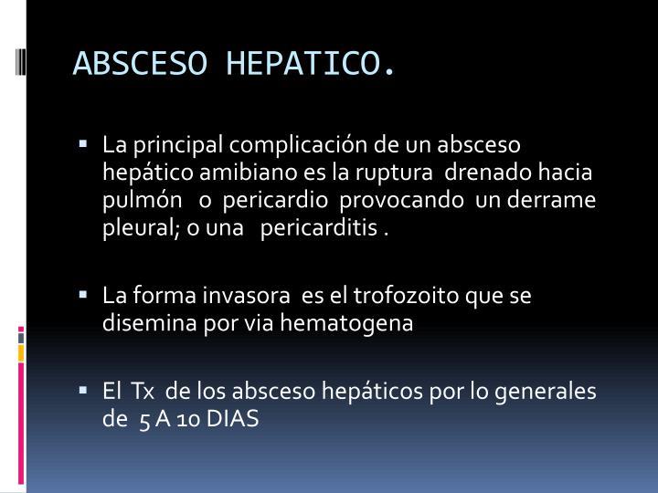 ABSCESO HEPATICO.