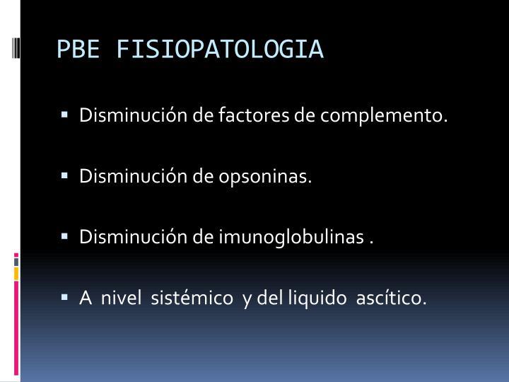 PBE FISIOPATOLOGIA