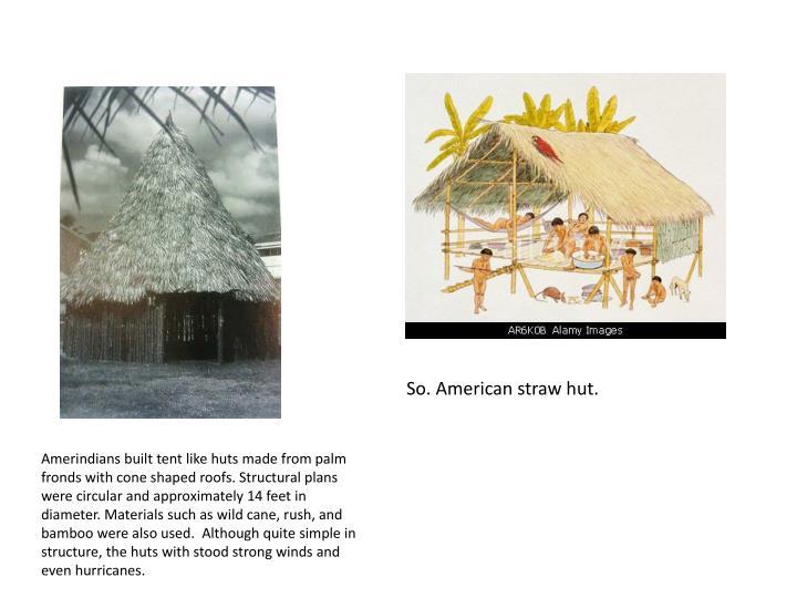 So. American straw hut.