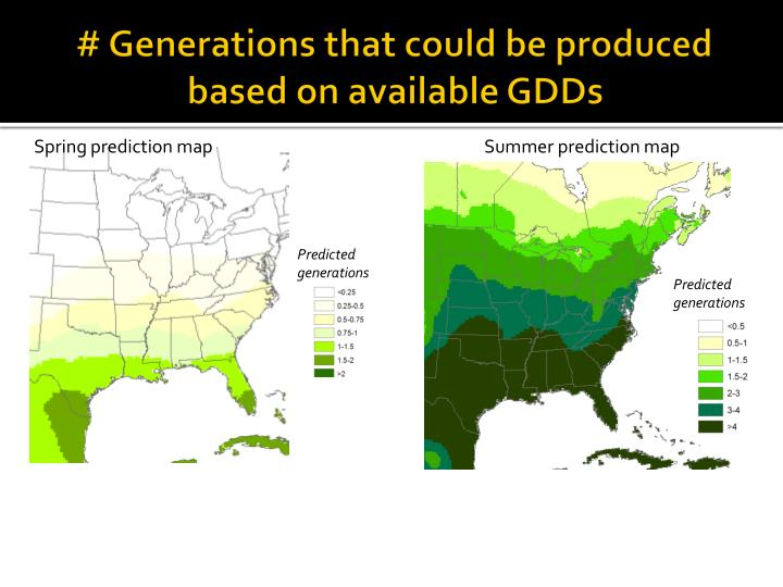 # Generations that could be produced based on available GDDs