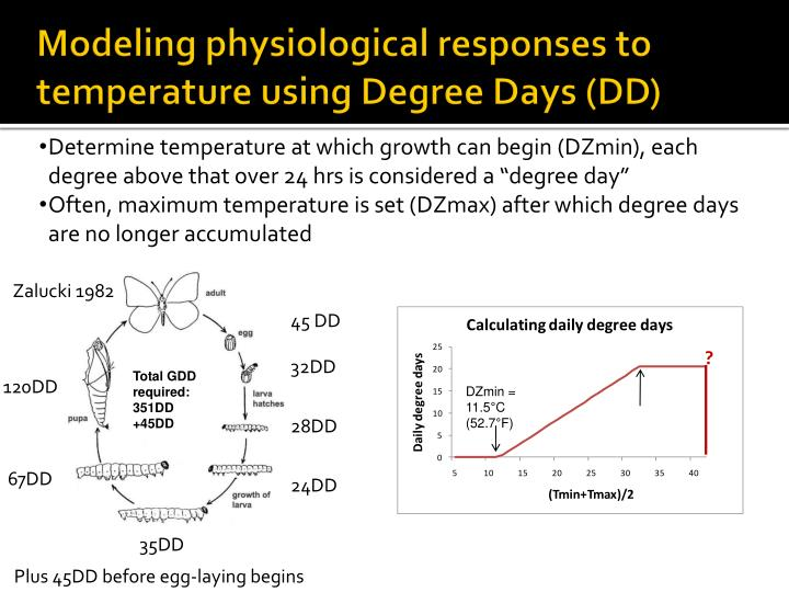 Modeling physiological responses to temperature using