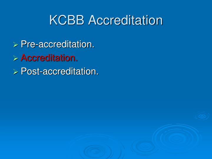 KCBB Accreditation