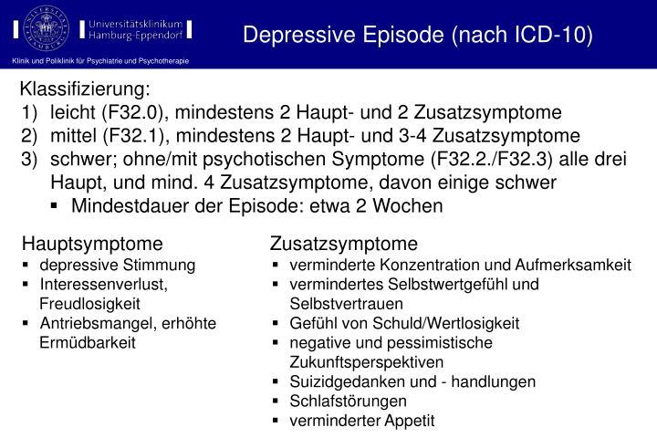 Depressive Episode (nach ICD