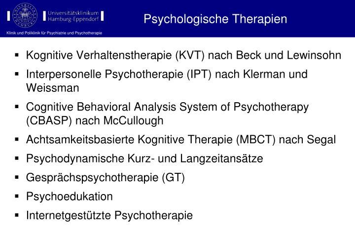 Psychologische Therapien