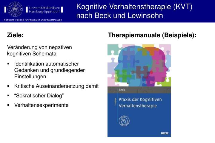 Kognitive Verhaltenstherapie (KVT) nach Beck und