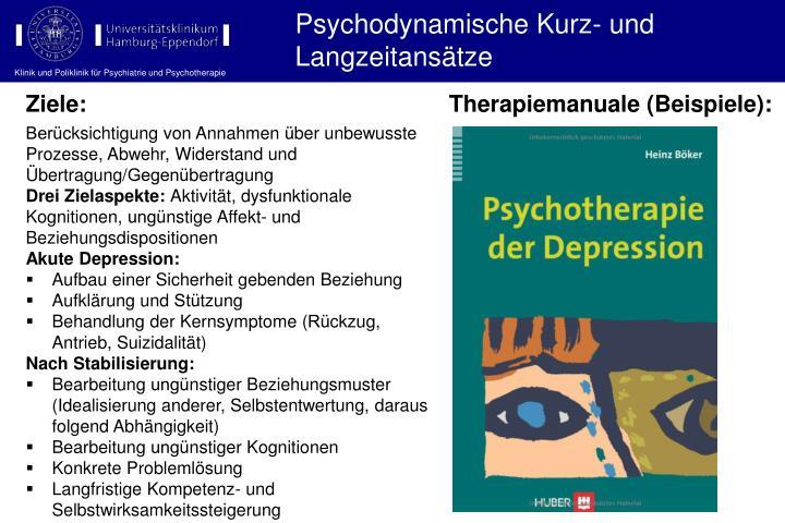 Psychodynamische Kurz- und Langzeitansätze