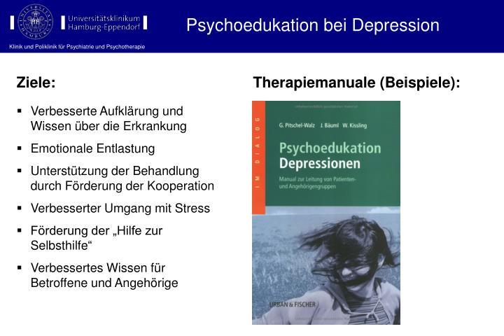 Psychoedukation bei Depression