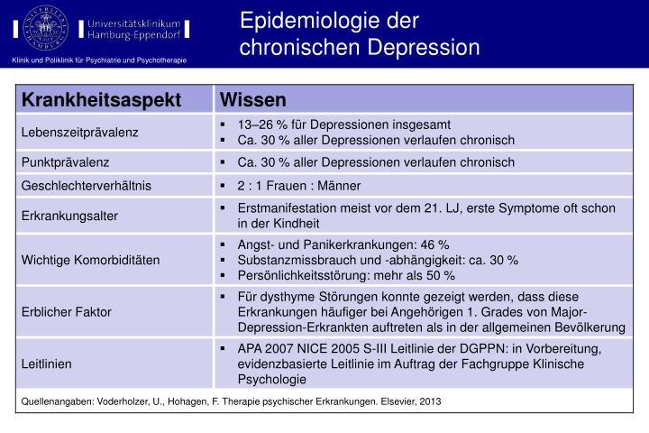 Epidemiologie der
