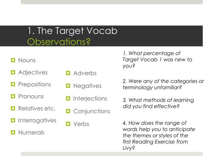 1. The Target Vocab